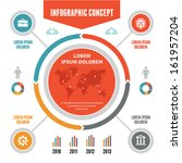 infographic business concept... | Shutterstock .eps vector #161957204