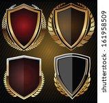 golden shield  set | Shutterstock .eps vector #161958509