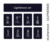 lighthouse set. vector... | Shutterstock .eps vector #1619585830
