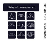 hiking and camping tent set.... | Shutterstock .eps vector #1619585833
