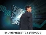 composite image of serious... | Shutterstock . vector #161959079