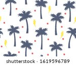 summer seamless pattern with... | Shutterstock .eps vector #1619596789