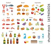 food set. collection of various ... | Shutterstock .eps vector #1619606026