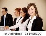 young businesswoman looking at... | Shutterstock . vector #161965100