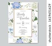 beautiful floral wedding...   Shutterstock .eps vector #1619651629