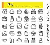 bag icons set  design pixel...