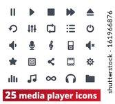 media player icons  multimedia... | Shutterstock .eps vector #161966876