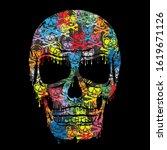 skull illustratin  tee shirt...   Shutterstock .eps vector #1619671126