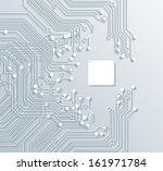 3d circuit board background... | Shutterstock .eps vector #161971784
