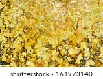 the gold leaf on buddha statue... | Shutterstock . vector #161973140