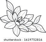 lotus flower decorative element ... | Shutterstock .eps vector #1619752816