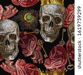 embroidery golden crown ... | Shutterstock .eps vector #1619759299