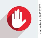 red circle icon  on gray... | Shutterstock . vector #161977778