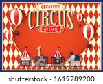 vintage circus design template... | Shutterstock .eps vector #1619789200