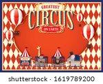 vintage circus design template... | Shutterstock .eps vector #1619789200