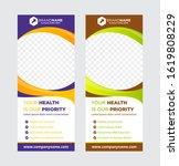 vertical banner roll up... | Shutterstock .eps vector #1619808229