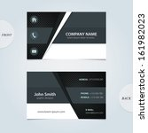vector abstract business cards.  | Shutterstock .eps vector #161982023