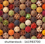 seamless texture with spices... | Shutterstock . vector #161983700