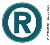 registered trade mark blue | Shutterstock . vector #161984603