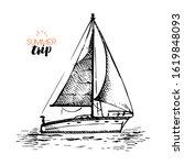 hand drawn retro sketch travel...   Shutterstock .eps vector #1619848093
