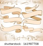 vector ribbons set   design... | Shutterstock .eps vector #161987708