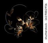 vintage luxury  floral... | Shutterstock .eps vector #1619882956