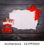 Christmas background -  Message for Santa Claus concept  - stock photo