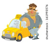Cartoon Taxi Driver Humorous...