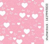 vector of pink seamless pattern ... | Shutterstock .eps vector #1619945833