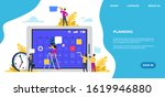 schedule landing page. time... | Shutterstock .eps vector #1619946880