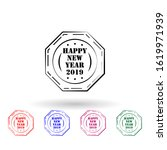 happy new year 2019 stamp multi ...