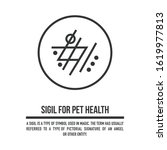 sigil for pet health. a...   Shutterstock .eps vector #1619977813