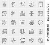 25 universal icons vector... | Shutterstock .eps vector #1619981773