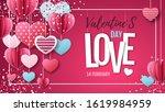 happy valentines day background ...   Shutterstock .eps vector #1619984959