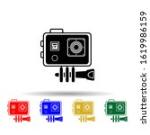 action camera multi color style ...