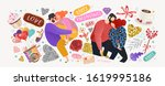 happy valentine's day  vector... | Shutterstock .eps vector #1619995186