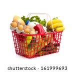full shopping basket  isolated... | Shutterstock . vector #161999693