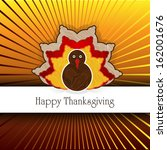 thanksgiving card   | Shutterstock . vector #162001676