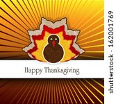 thanksgiving card in vector... | Shutterstock .eps vector #162001769