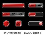 red glossy buttons with return  ...