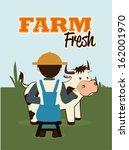 farm fresh label over filed ... | Shutterstock .eps vector #162001970