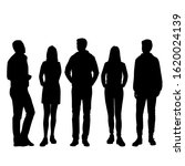 vector silhouettes of  men and... | Shutterstock .eps vector #1620024139