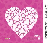 white and purple hearts... | Shutterstock .eps vector #162003929