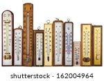 Set Of Retro Thermometers...