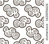 doodle seamless pattern brown... | Shutterstock .eps vector #1620056626