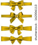 set of golden satin bows.... | Shutterstock .eps vector #162006113