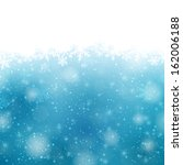 winter blue background with... | Shutterstock .eps vector #162006188