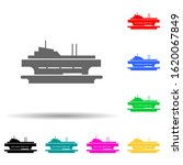 ferry  ship multi color style...