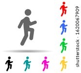 run  walking multi color style...