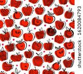 Red Apple Seamless Pattern....